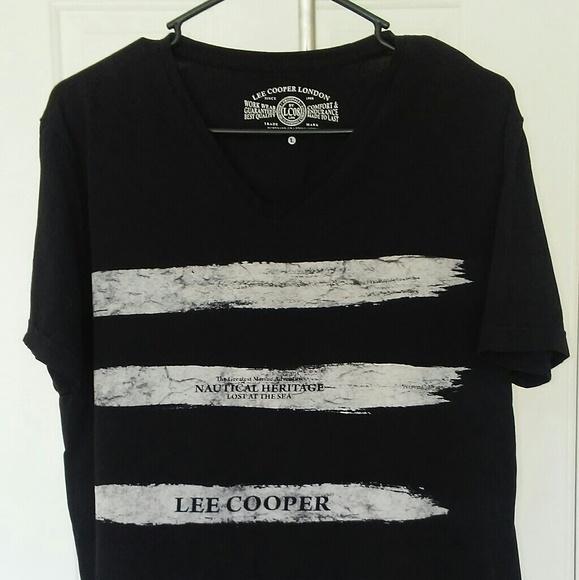 44d18e69c Lee Cooper London Shirts   Lee Cooper Mens Black Graphic Tee Shirt ...